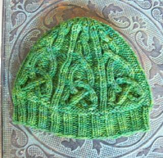 Celtic Cable Hat 111909-2