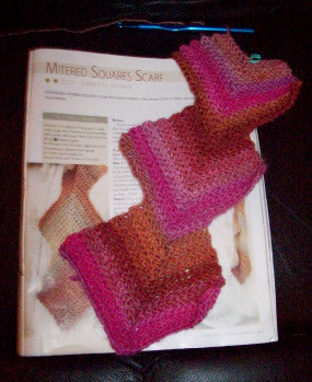 Mitered Squares Scarf 123108