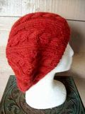 Cabled Beret Side