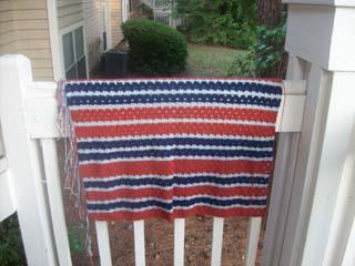 Crocheted Shell Blanket 061911