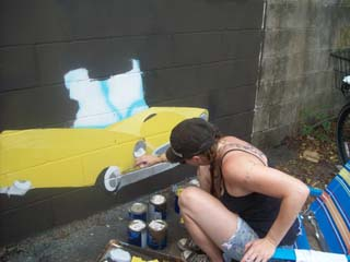 CHArt Block Party Artist Painting