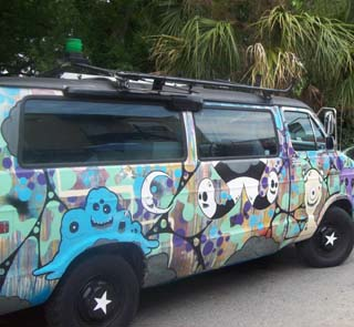 CHArt Block Party Painted Van