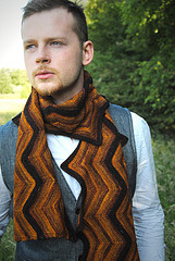 Knitty Creekbed scarf