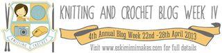 Knitting and Crochet Blog Week Banner
