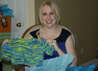 Tasha and the baby sweater